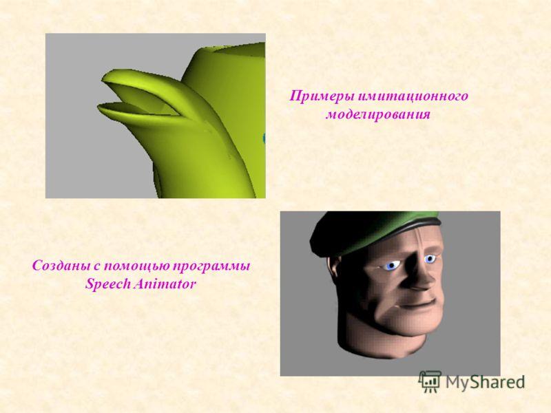 Примеры имитационного моделирования Созданы с помощью программы Speech Animator