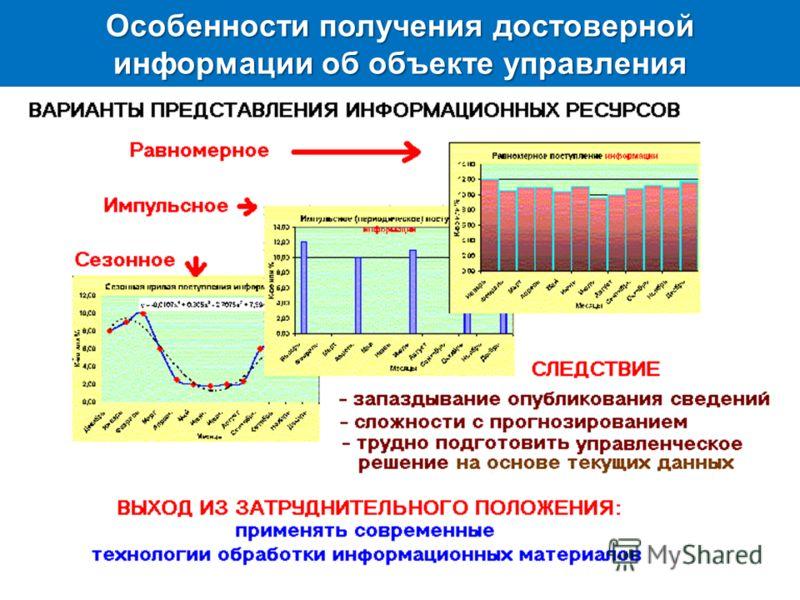 Особенности получения достоверной информации об объекте управления