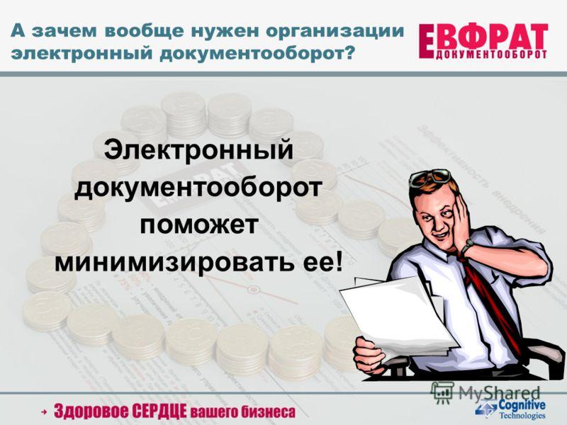 2005 Cognitive Technologies Ltd. А зачем вообще нужен организации электронный документооборот? Электронный документооборот поможет минимизировать ее!