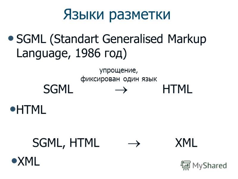 XML Язык разметки Набор языков для хранения, обработки и представления документов Технологии обработки и обмена информацией
