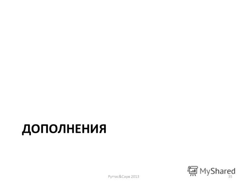 ДОПОЛНЕНИЯ Руттас&Сарв 201335