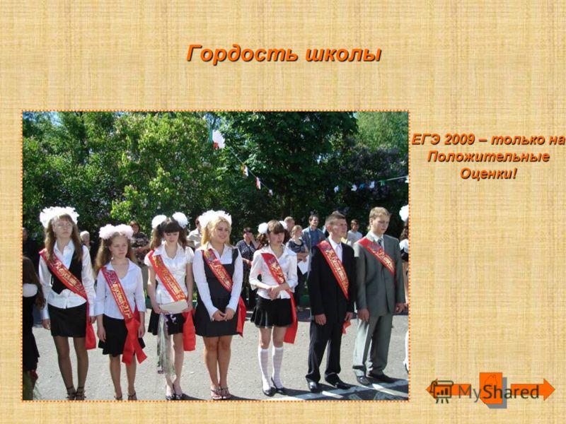 Гордость школы ЕГЭ 2009 – только на ПоложительныеОценки!