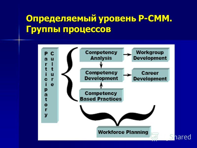 Определяемый уровень P-CMM. Группы процессов