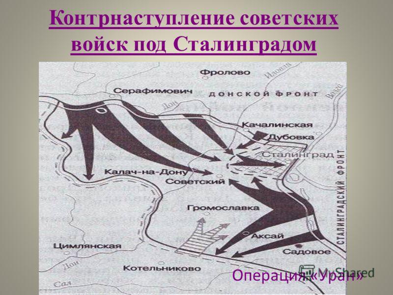 Операция «Уран» Контрнаступление советских войск под Сталинградом