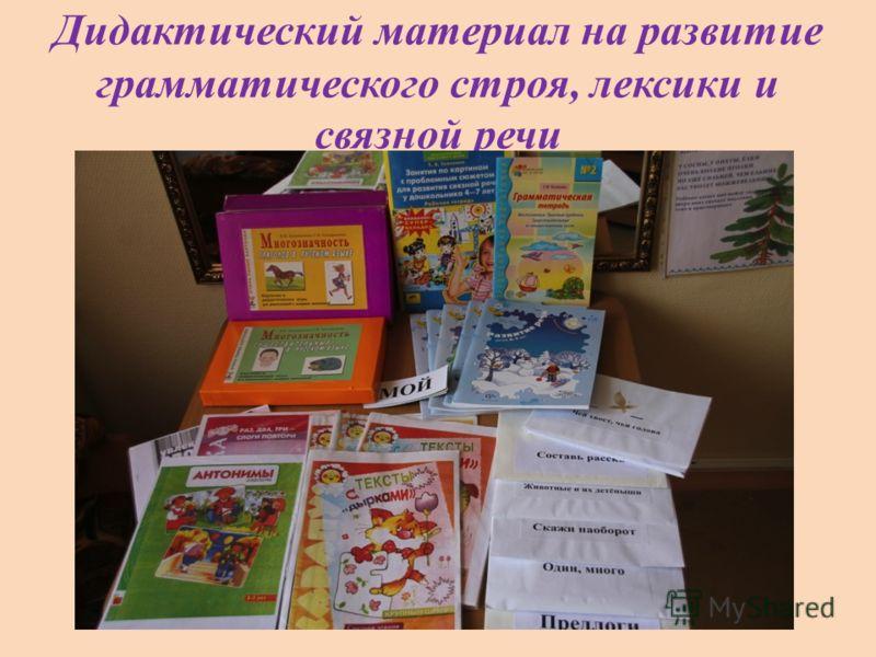 Дидактический материал на развитие грамматического строя, лексики и связной речи