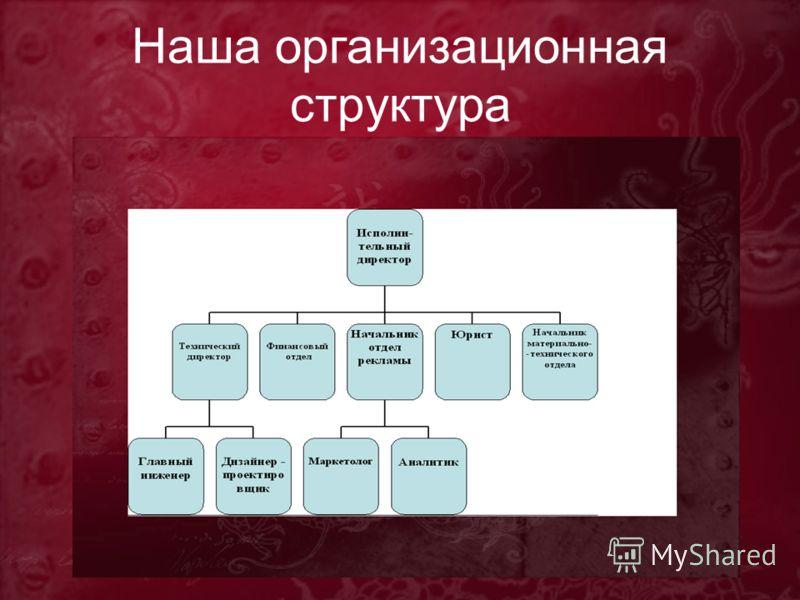 Наша организационная структура
