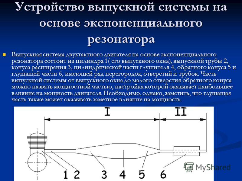 Выпускная система двухтактного