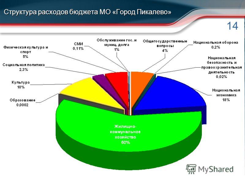 14 Структура расходов бюджета МО «Город Пикалево»