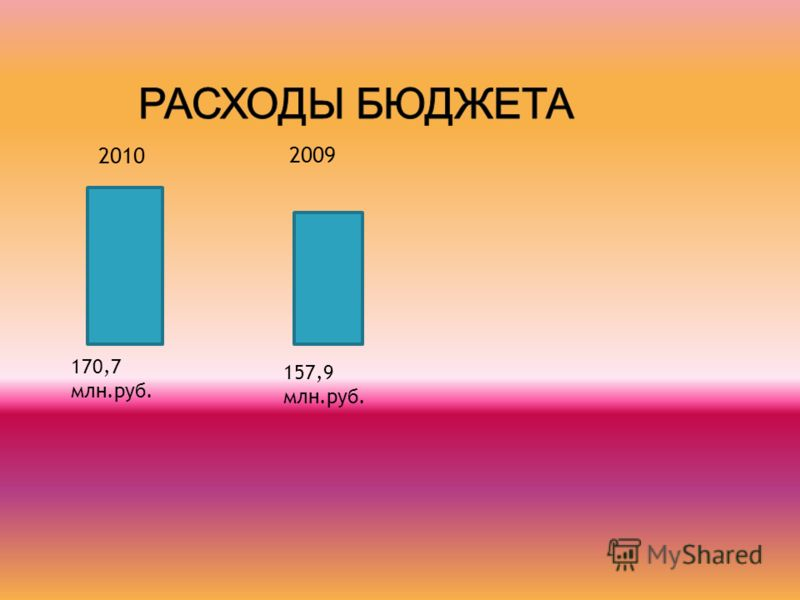 2010 170,7 млн.руб. 2009 157,9 млн.руб.