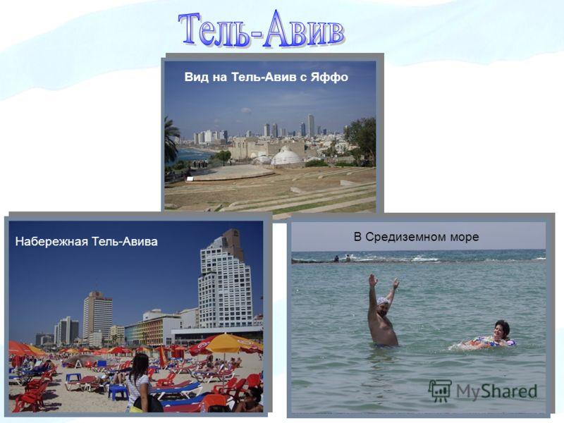 Вид на Тель-Авив с Яффо Набережная Тель-Авива В Средиземном море