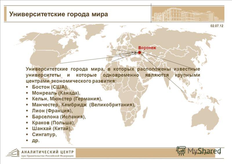 Университетские города России 02.07.12 2 www.ac.gov.ru
