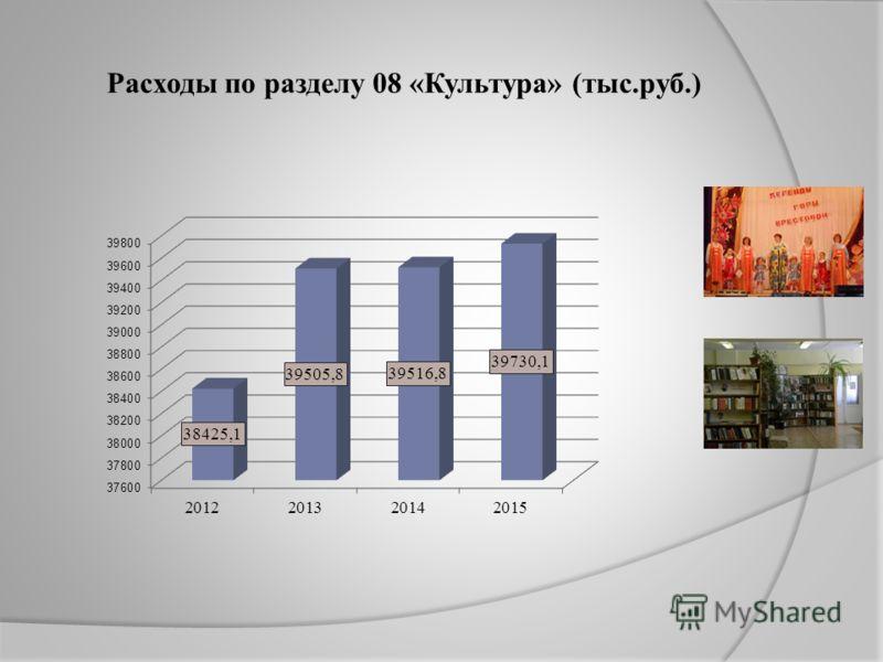Расходы по разделу 08 «Культура» (тыс.руб.)