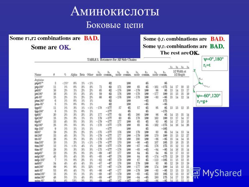 Аминокислоты Боковые цепи
