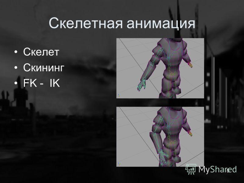 Скелетная анимация Скелет Скининг FK - IK 5
