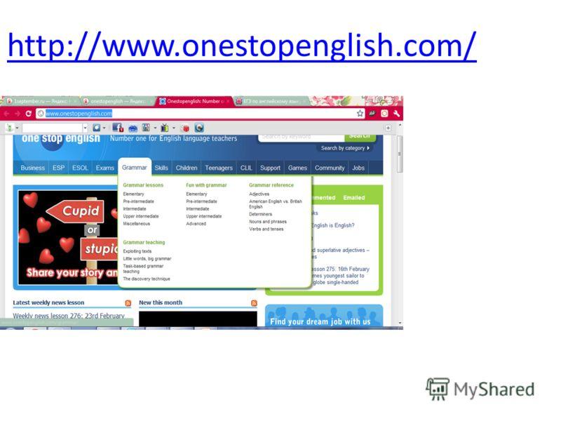 http://www.onestopenglish.com/