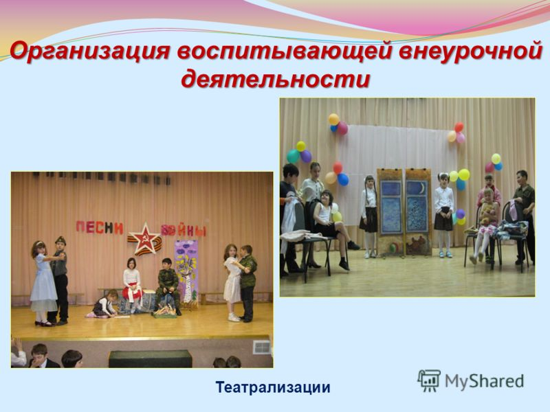 Организация воспитывающей внеурочной деятельности Театрализации