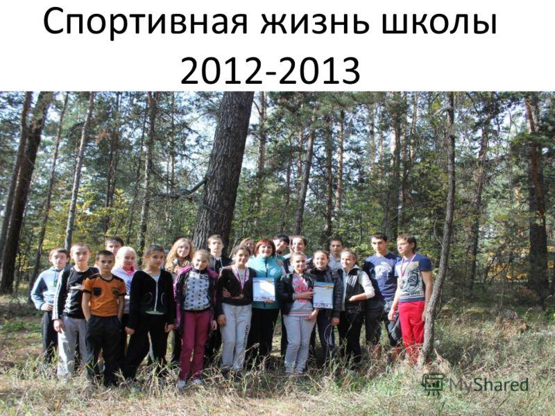 Спортивная жизнь школы 2012-2013