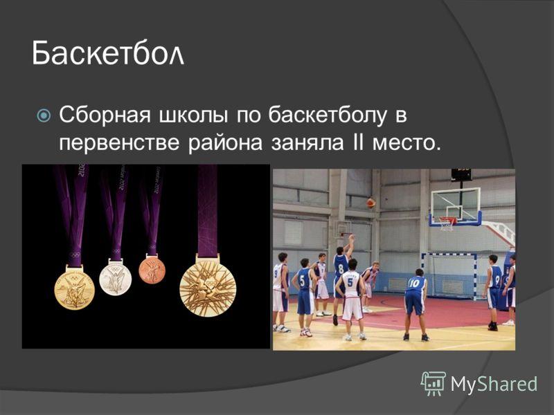 Баскетбол Сборная школы по баскетболу в первенстве района заняла II место.