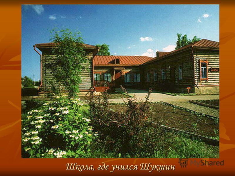 Школа, где учился Шукшин