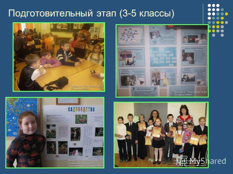 Подготовительный этап (3-5 классы)