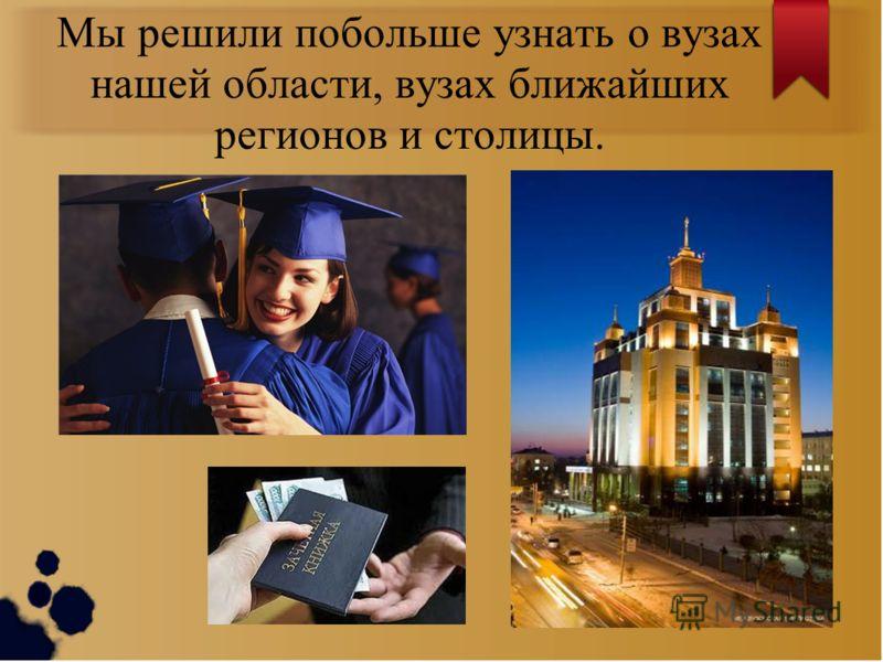 Когда выбраны предмет и специальность, возникает новая проблема: Куда пойти учиться?