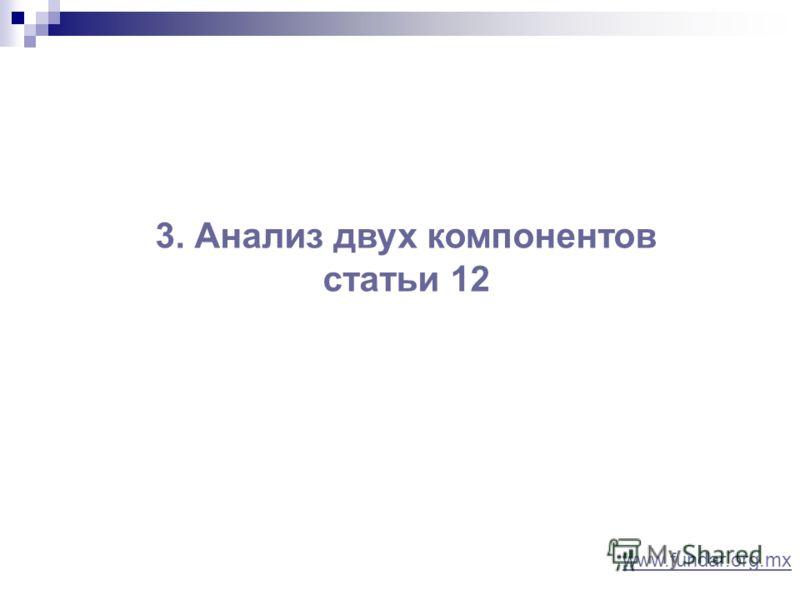 3. Анализ двух компонентов статьи 12 www.fundar.org.mx