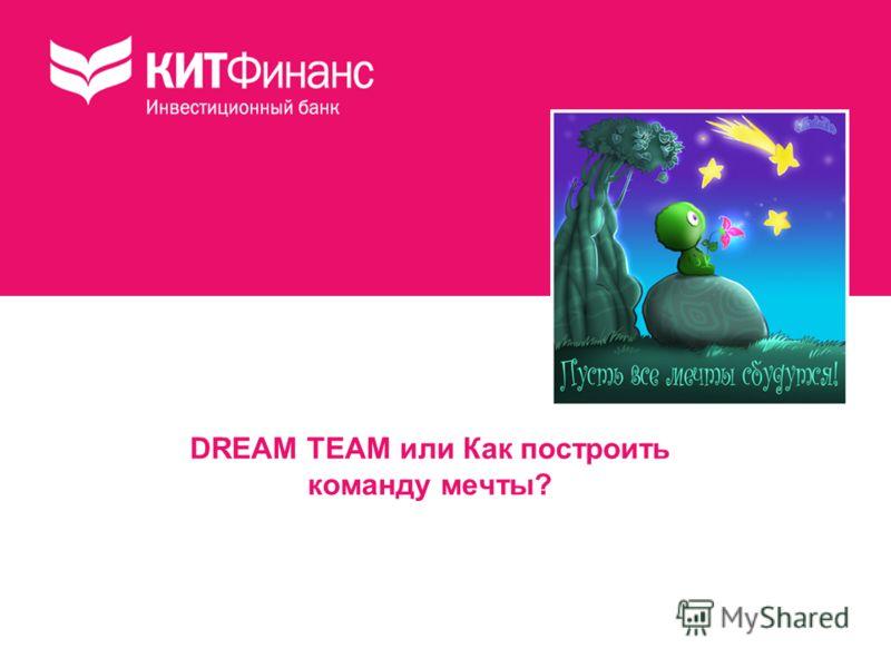 DREAM TEAM или Как построить команду мечты?