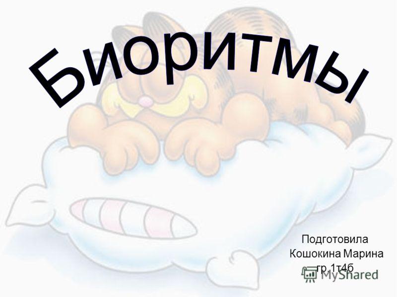 Подготовила Кошокина Марина гр.1т4б