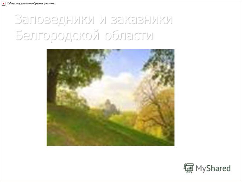 Заповедники и заказники Белгородской области