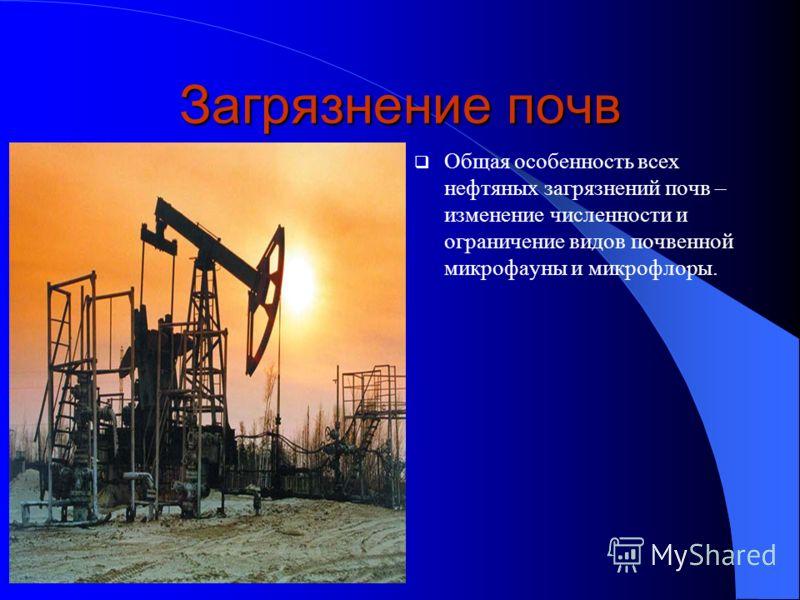 Загрязнение атмосферы. Использование нефти и нефтепродуктов в качестве топлива (при их сгорании за последние полвека израсходовано более 300 млрд. т кислорода). Снижение количества солнечной радиации, достигающей поверхности Земли. Это приводит к изм