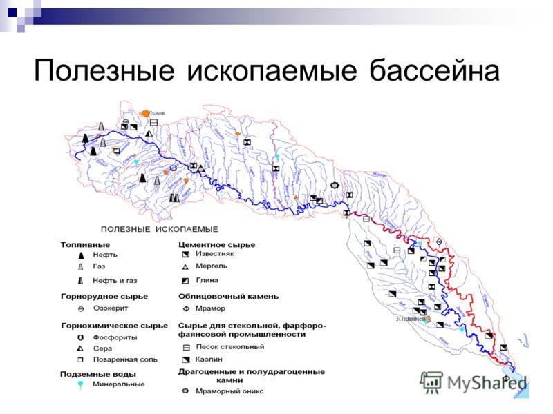 Полезные ископаемые бассейна