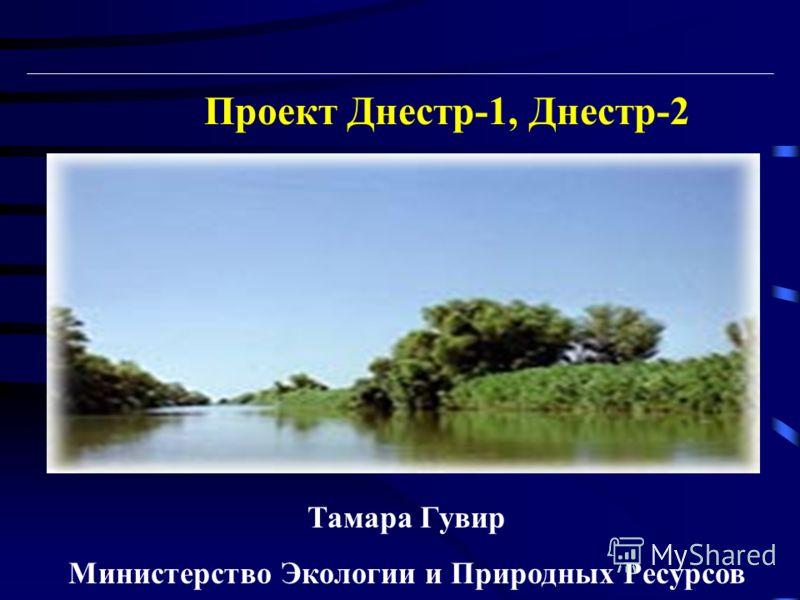 Проект Днестр-1, Днестр-2 Тамара Гувир Министерство Экологии и Природных Ресурсов
