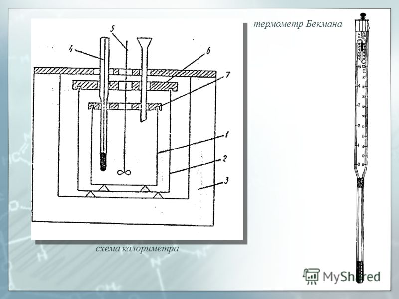 схема калориметра термометр Бекмана
