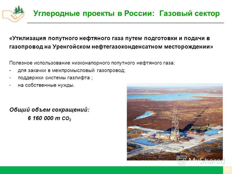 «Утилизация попутного нефтяного газа путем подготовки и подачи в газопровод на Уренгойском нефтегазоконденсатном месторождении» Полезное использование низконапорного попутного нефтяного газа: -для закачки в межпромысловый газопровод; -поддержки систе