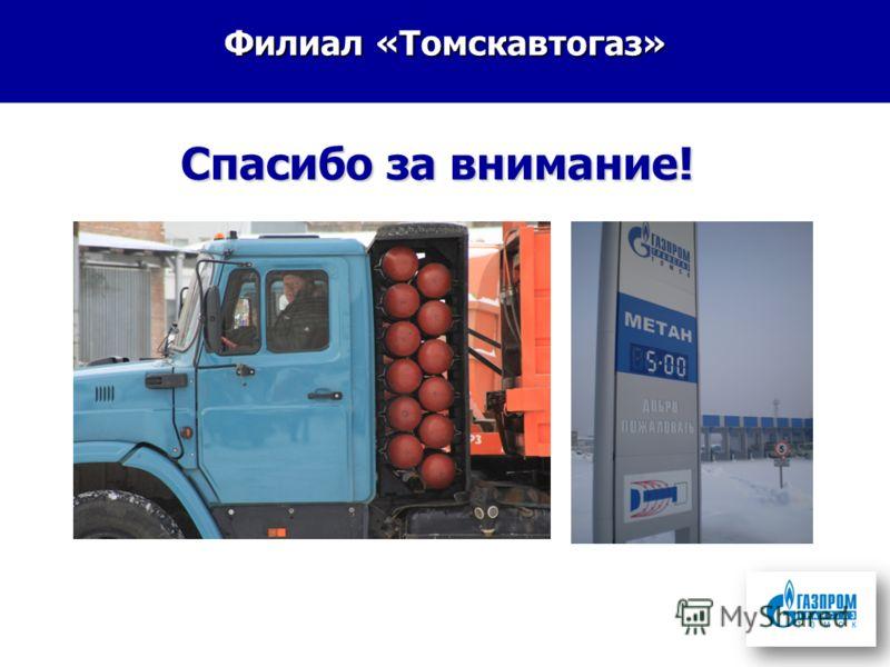 Филиал «Томскавтогаз» Спасибо за внимание!