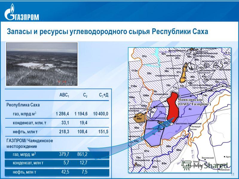 11 Запасы и ресурсы углеводородного сырья Республики Саха АВС 1 С2С2 С 3 +Д Республика Саха газ, млрд м 3 1 194,61 286,410 400,0 конденсат, млн. т19,433,1 нефть, млн т108,4218,3151,5 ГАЗПРОМ/ Чаяндинское месторождение газ, млрд. м 3 861,2379,7 конден