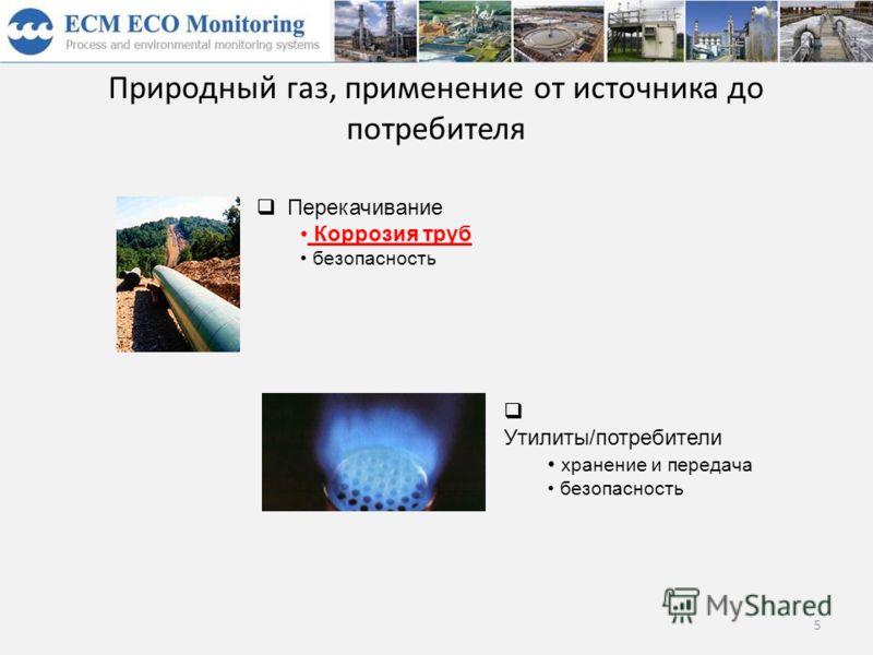 Природный газ, применение от источника до потребителя 5 Перекачивание Коррозия труб безопасность Утилиты/потребители хранение и передача безопасность