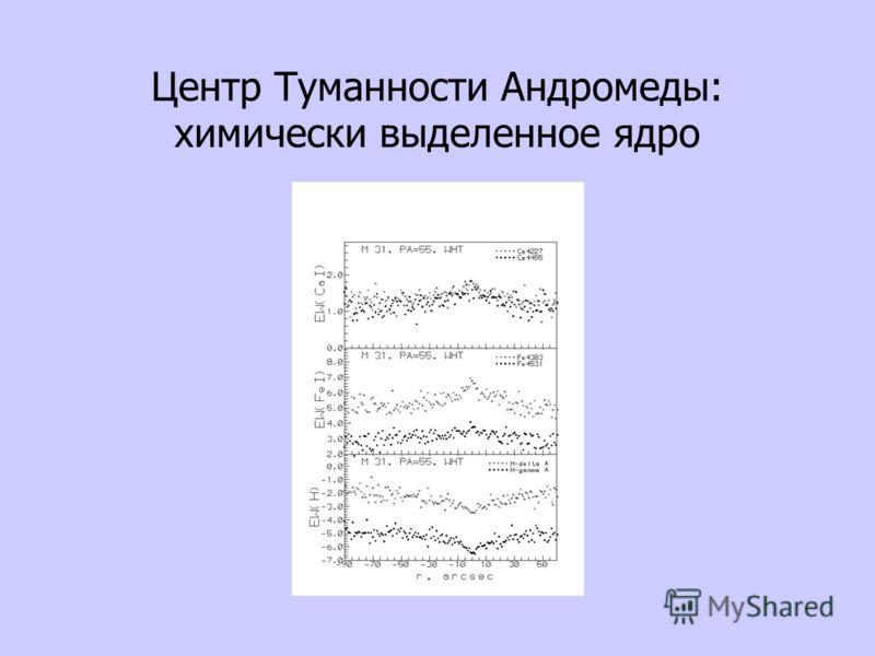 Центр Туманности Андромеды: химически выделенное ядро