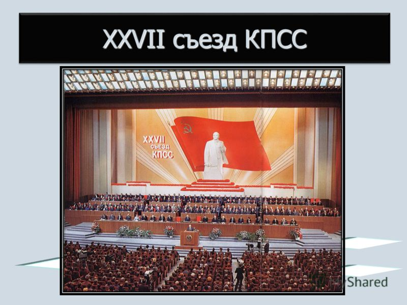 XXVII съезд КПСС