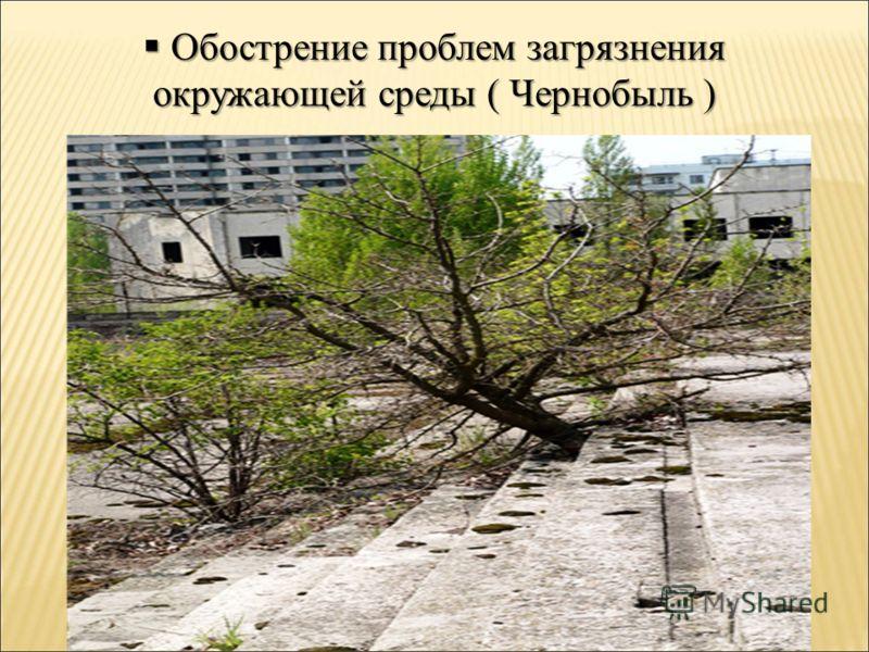 Обострение проблем загрязнения Обострение проблем загрязнения окружающей среды ( Чернобыль )