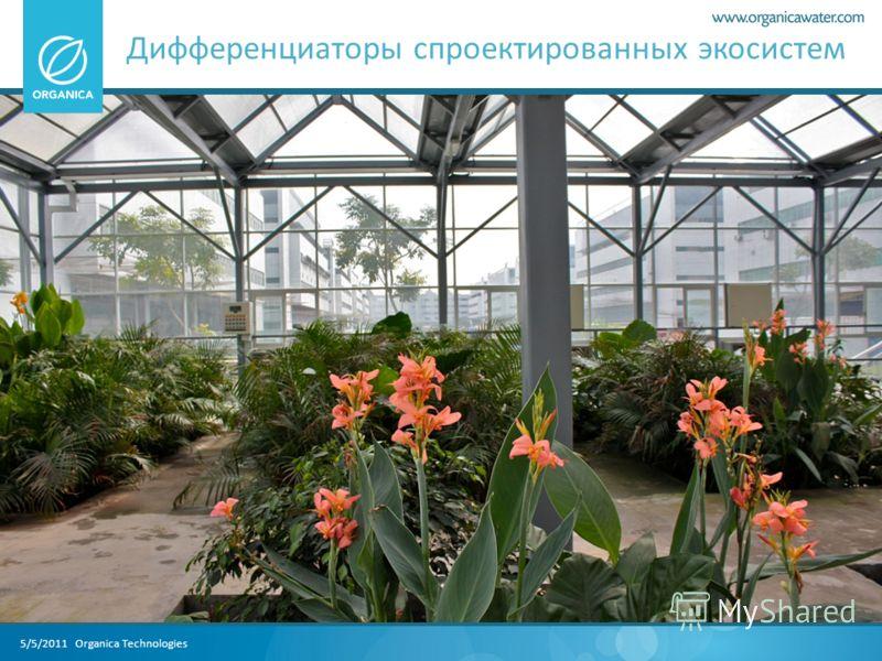 5/5/2011 Organica Technologies Дифференциаторы спроектированных экосистем
