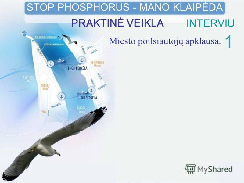 Miesto poilsiautojų apklausa. 1 STOP PHOSPHORUS - MANO KLAIPĖDA PRAKTINĖ VEIKLAINTERVIU