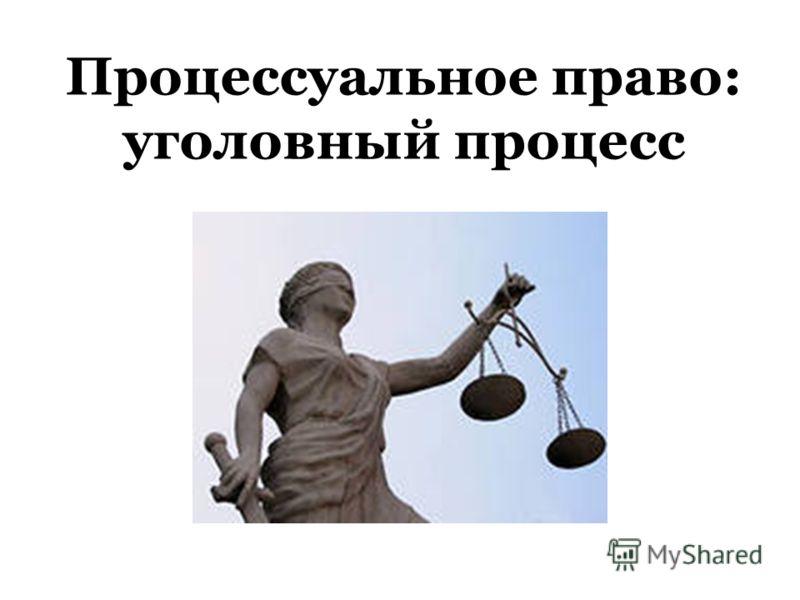 Процессуальное право: уголовный процесс