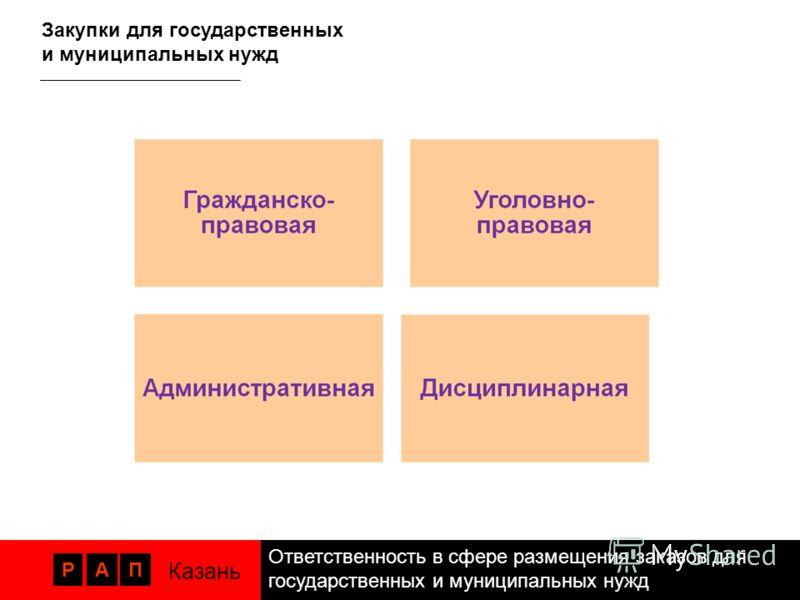 РАП Казань Закупки для государственных и муниципальных нужд