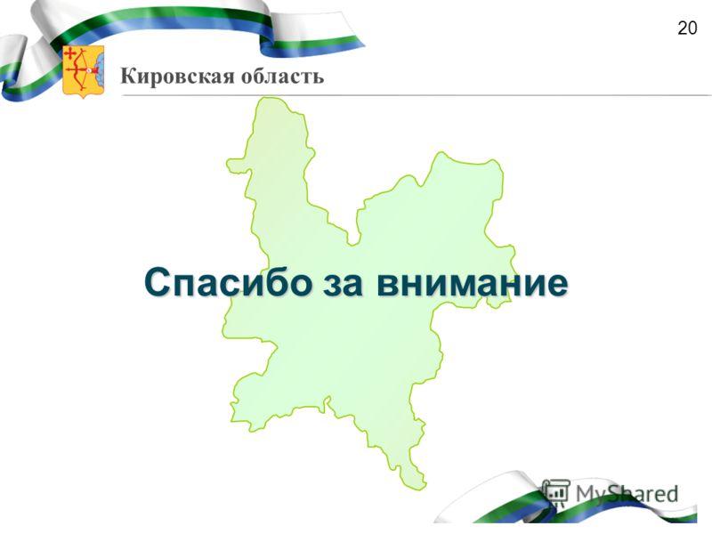 Кировская область Спасибо за внимание 20