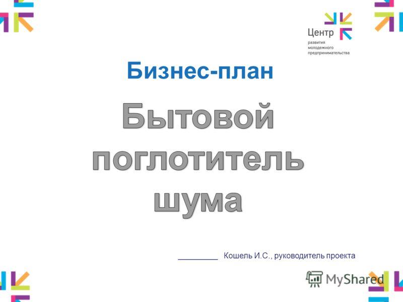 Бизнес-план _________ Кошель И.С., руководитель проекта