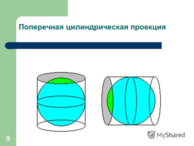 9 Поперечная цилиндрическая проекция
