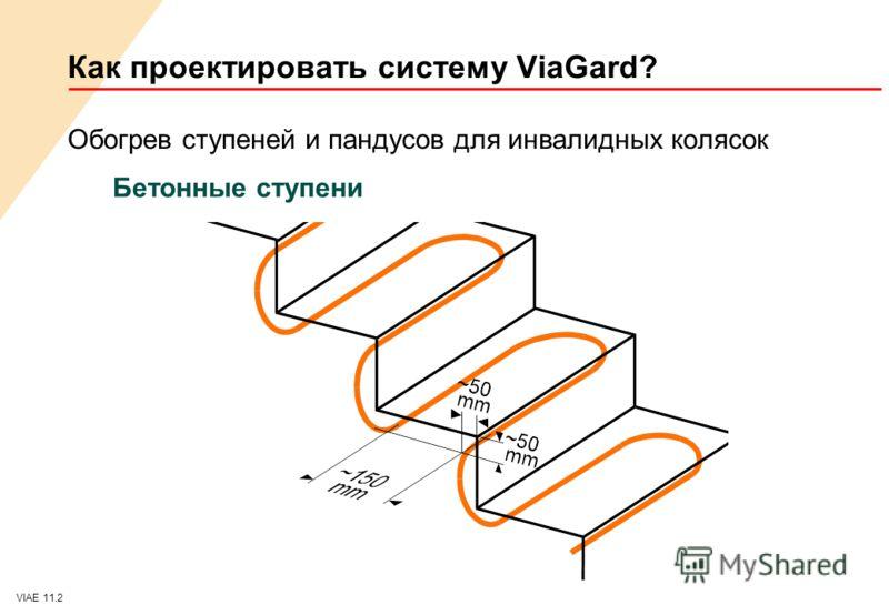 VIAE 11.2 Как проектировать систему ViaGard? Обогрев ступеней и пандусов для инвалидных колясок Бетонные ступени