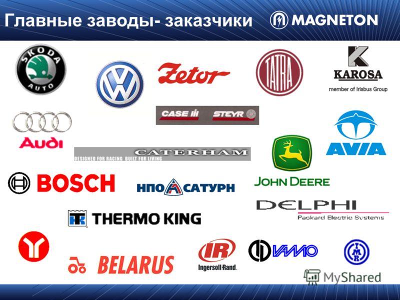 Главные заводы- заказчики