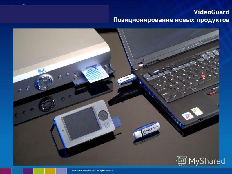 Confidential ©NDS Ltd 2006. All rights reserved. VideoGuard Позиционирование новых продуктов